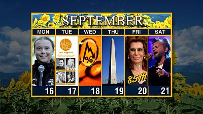 Sunday Morning - Calendar: Week of September 16