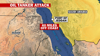 CBS This Morning - Iran claims oil tanker hit by two missiles