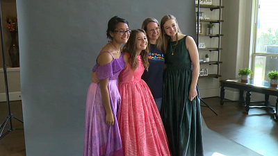 CBS This Morning - Teens with skin conditions model unique dresses
