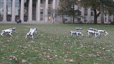 CBS This Morning - MIT's mini cheetah robots show off flips