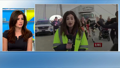 """CBS This Morning - Reporter slapped at race: """"He took my power"""""""