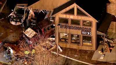 CBS This Morning - 5 injured after truck slams into Starbucks