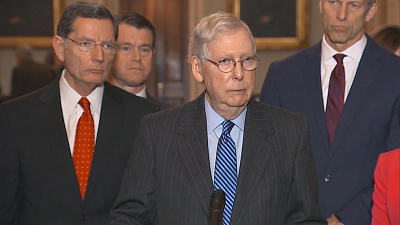 CBS This Morning - McConnell proposes new impeachment trial rule