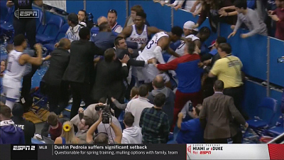 CBS This Morning - Brawl erupts at Kansas-Kansas State game