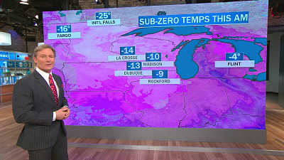 CBS This Morning - Sub-zero temperatures target most of U.S.
