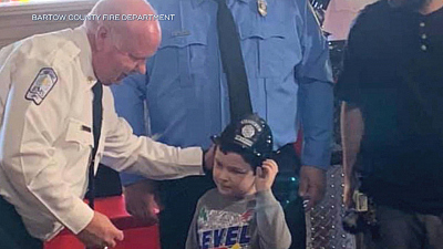 CBS This Morning - Boy who saved family receives honors