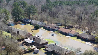 CBS This Morning - Mississippi homes damaged by historic floods