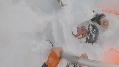CBS This Morning - Women rescued after being buried by avalanche