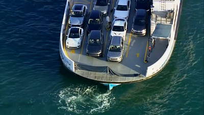 CBS This Morning - 2 women die after car rolls off ferry