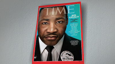CBS This Morning - TIME Magazine recreates image of MLK