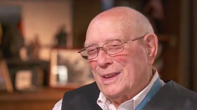 CBS This Morning - Iwo Jima war hero honored for service