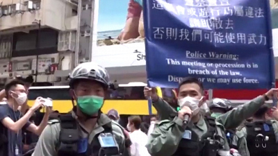 CBS This Morning - Hong Kong police arrest over 180 protesters