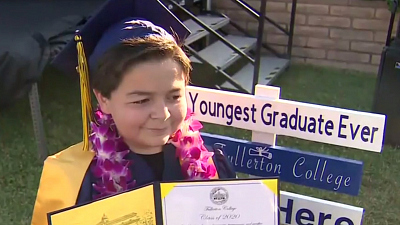 CBS This Morning - 13-year-old boy graduates from college