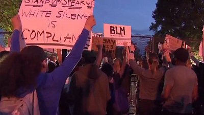 CBS This Morning - Protests continue at White House past curfew