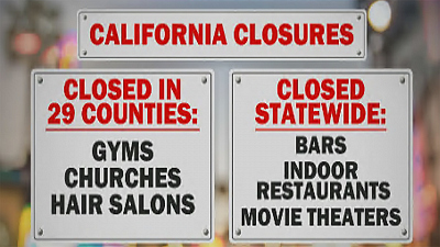 CBS This Morning - California shuts down due to COVID-19 spikes