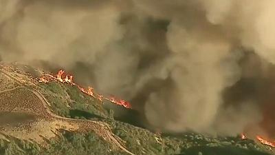 CBS This Morning - Eye Opener: Brush fire explodes in California