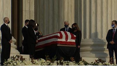 CBS This Morning - Justice Ginsburg memorials begin