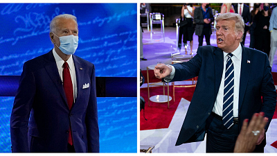 Red and Blue - Biden and Trump hold dueling town halls
