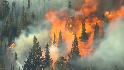 CBS This Morning - Historic wildfires spread throughout Colorado