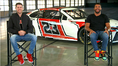 CBS This Morning - NASCAR stars unveil Michael Jordan team car