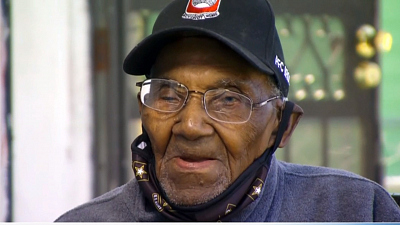 CBS This Morning - America's oldest WWII vet gets a helping hand