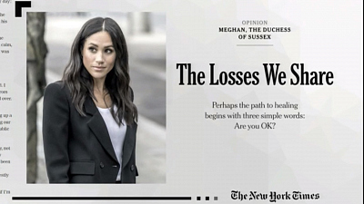 CBS This Morning - Meghan Markle reveals grief after miscarriage