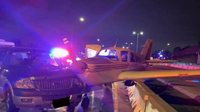 CBS This Morning - Plane hits SUV during emergency landing