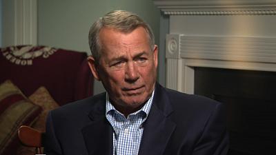 "Sunday Morning - Preview: John Boehner on ""political terrorists"" in Congress"