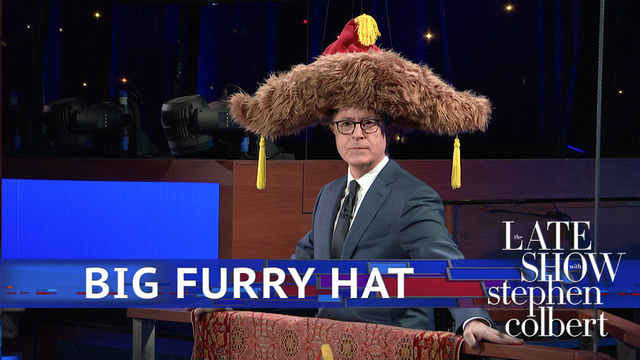 Watch The Late Show with Stephen Colbert: Big Furry Hat ...